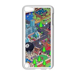 Pixel Art City Apple iPod Touch 5 Case (White)