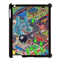 Pixel Art City Apple iPad 3/4 Case (Black)