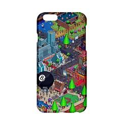 Pixel Art City Apple Iphone 6/6s Hardshell Case