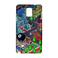 Pixel Art City Samsung Galaxy Note 4 Hardshell Case