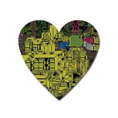 Technology Circuit Board Heart Magnet