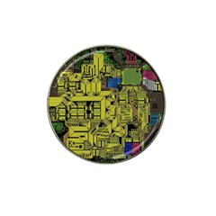 Technology Circuit Board Hat Clip Ball Marker (4 pack)