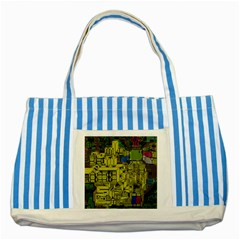 Technology Circuit Board Striped Blue Tote Bag