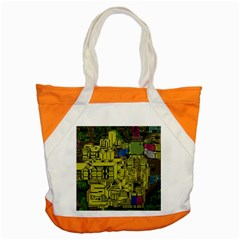Technology Circuit Board Accent Tote Bag