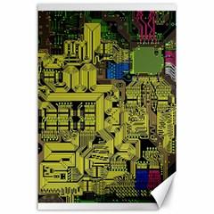 Technology Circuit Board Canvas 24  x 36