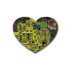 Technology Circuit Board Heart Coaster (4 pack)