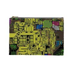 Technology Circuit Board Cosmetic Bag (Large)
