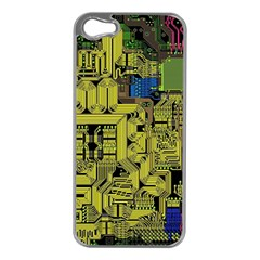 Technology Circuit Board Apple iPhone 5 Case (Silver)