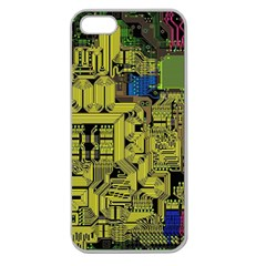 Technology Circuit Board Apple Seamless iPhone 5 Case (Clear)