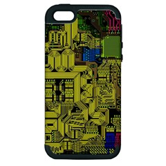 Technology Circuit Board Apple iPhone 5 Hardshell Case (PC+Silicone)