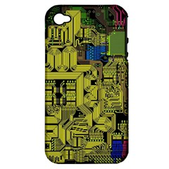 Technology Circuit Board Apple iPhone 4/4S Hardshell Case (PC+Silicone)