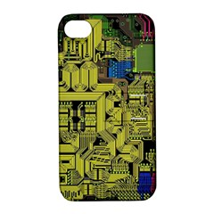 Technology Circuit Board Apple iPhone 4/4S Hardshell Case with Stand