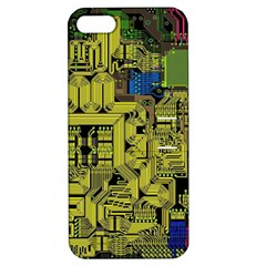 Technology Circuit Board Apple Iphone 5 Hardshell Case With Stand