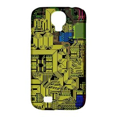 Technology Circuit Board Samsung Galaxy S4 Classic Hardshell Case (PC+Silicone)