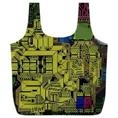 Technology Circuit Board Full Print Recycle Bags (L)
