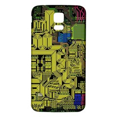Technology Circuit Board Samsung Galaxy S5 Back Case (White)