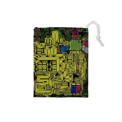 Technology Circuit Board Drawstring Pouches (Small)