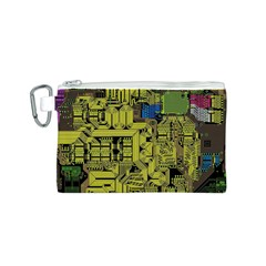 Technology Circuit Board Canvas Cosmetic Bag (S)