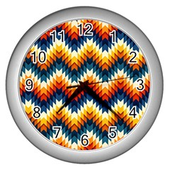The Amazing Pattern Library Wall Clocks (Silver)