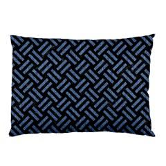 WOV2 BK-MRBL BL-LTHR Pillow Case