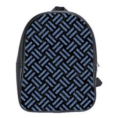 WOV2 BK-MRBL BL-LTHR School Bags (XL)