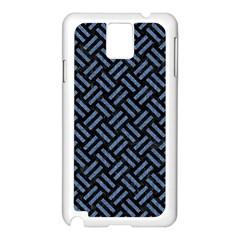 WOV2 BK-MRBL BL-LTHR Samsung Galaxy Note 3 N9005 Case (White)
