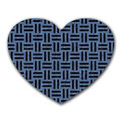WOV1 BK-MRBL BL-LTHR (R) Heart Mousepads