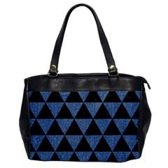 TRI3 BK-MRBL BL-LTHR Office Handbags