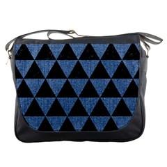 TRI3 BK-MRBL BL-LTHR Messenger Bags