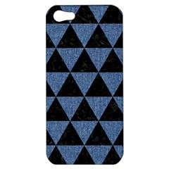 TRI3 BK-MRBL BL-LTHR Apple iPhone 5 Hardshell Case