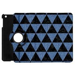 TRI3 BK-MRBL BL-LTHR Apple iPad Mini Flip 360 Case
