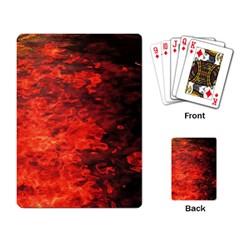 Reflections at Night Playing Card