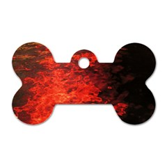 Reflections at Night Dog Tag Bone (One Side)