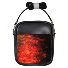 Reflections at Night Girls Sling Bags