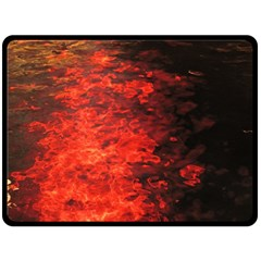 Reflections at Night Double Sided Fleece Blanket (Large)