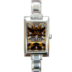 Textures Snake Skin Patterns Rectangle Italian Charm Watch