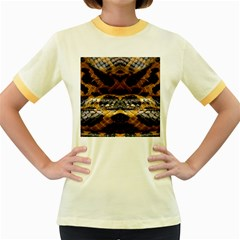Textures Snake Skin Patterns Women s Fitted Ringer T-Shirts