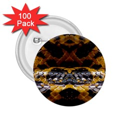 Textures Snake Skin Patterns 2.25  Buttons (100 pack)