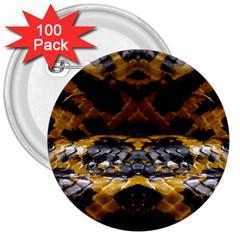 Textures Snake Skin Patterns 3  Buttons (100 Pack)