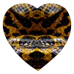 Textures Snake Skin Patterns Jigsaw Puzzle (heart)