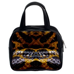 Textures Snake Skin Patterns Classic Handbags (2 Sides)