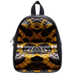 Textures Snake Skin Patterns School Bags (Small)
