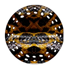 Textures Snake Skin Patterns Round Filigree Ornament (two Sides)