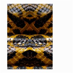 Textures Snake Skin Patterns Small Garden Flag (two Sides)