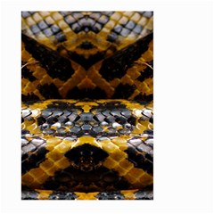 Textures Snake Skin Patterns Large Garden Flag (two Sides)