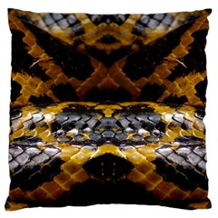 Textures Snake Skin Patterns Large Cushion Case (Two Sides)