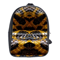 Textures Snake Skin Patterns School Bags (xl)