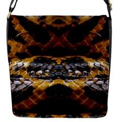 Textures Snake Skin Patterns Flap Messenger Bag (S)