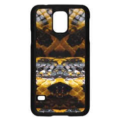Textures Snake Skin Patterns Samsung Galaxy S5 Case (black)