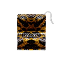 Textures Snake Skin Patterns Drawstring Pouches (small)